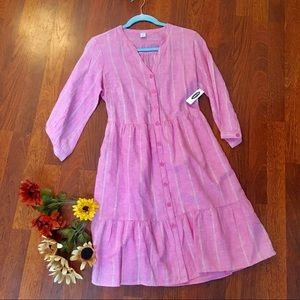 Old Navy NWT flounce button down dress